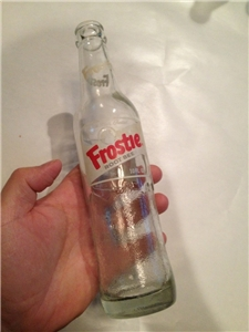 Vintage ACL Frostie Root Beer Bottle 10 Oz Camden New Jersey NJ