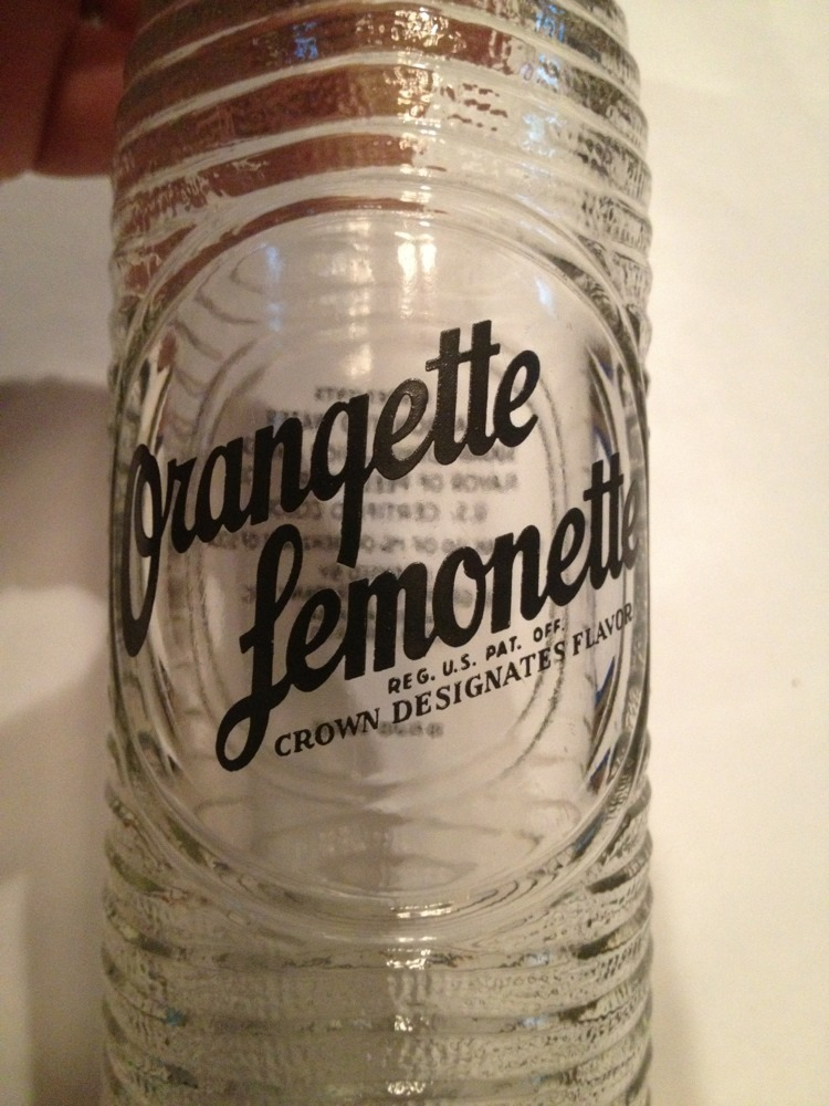 Vintage Orangette Lemonette ACL Soda Bottle Cameden Arkansas Grapette