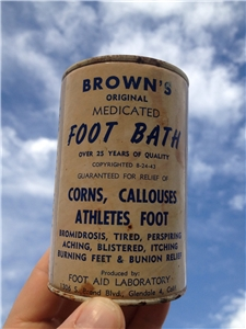 Vintage Browns Medicated Foot Bath Tin Can
