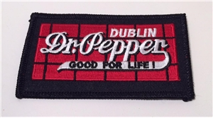 Dublin Dr Pepper Red Brick Patch Collectible