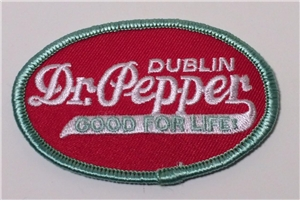 Dublin Dr Pepper Good For Life Patch Oval Collectible
