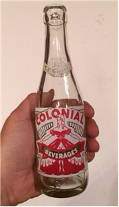Vintage Colonial Beverages Sida Bottle ACL Bethel Park PA 1975