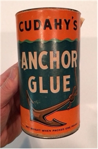 Old Vintage Cudahys Anchor Glue Tin Metal Can Advertising Collectible
