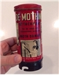 Old Vintage De-Mothing Tin Metal Can Attachment Collectible Advertising Graphics