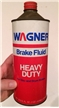 Vintage Wagner Brake Fluid Oil Gas Tin Quart Can Parsippany NJ Advertising