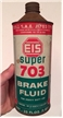 Vintage EIS Super 703 Brake Fluid Gas Oil Tin Can Quart Cone Top Middletown CT