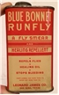 Old Vintage Blue Bonnet Runfly Insect Poison Oil Can San Saba Texas