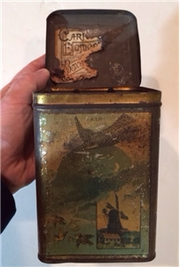 Old Vintage Biscuit Tin Carr & Co Carlisle Biscuin Manufacturers