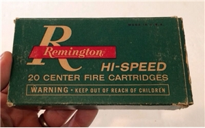 Old Vintage Remington Center Fire Rifle 30-30 Shell Box Hunting Decor
