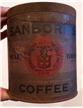 Vintage Chase & Sanborns Seal Standard Brand Coffee Tin Can New York