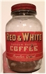 Vintage Red & White Coffee Jar Chicago Illinois