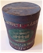Old Vintage Barrington Hall Coffee Steel Cut Coffe Can Baker Imptg