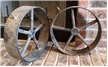 Pair Of Thick Heavy Cast Iron Wheels 12
