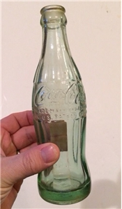 Vintage 1952 Honolulu TH Coca Cola Coke Script Hobbleskirt Soda Bottle