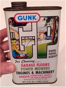 Old Vintage Gunk Degreaser Collectible Oil Can - Garage, Mowers, Engines