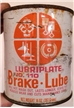 Vintage Lubriplate Fiske Brothers Brake Lube Metal Steel Oil Can - Toledo Ohio