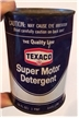Vintage Texaco Super Motor Detergent 1 Pint Collectible Metal Steel Oil Can