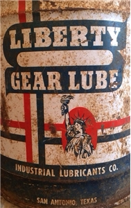 Old Vintage 5 Gallon Liberty Gear Lube Oil Bucket Can - San Antonio Texas Tx