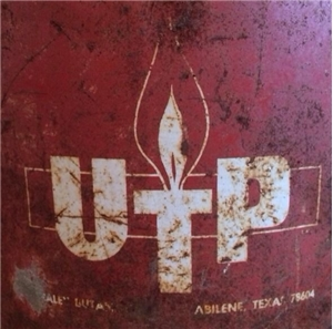 Old Vintage UTP Abilene Texas TX Oil / Gas Metal Can Bucket - 5 Gallon