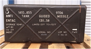 Vietnam War Metal Anti Tank Military Missile Bomb Box Nord Aviation French Inert