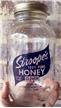 Vintage 1986 Stroopes Honey Clover Glass Jar - ACL - Frisco Texas Tx