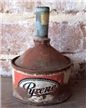 Old Vintage Pyrene Metal Funnel - Antique Farm Decor