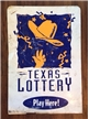 Large Original Texas Lottery Metal Sign - Double Sided - 1994