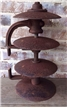 Old 4 Cast Iron Metal Plow Disc Blades - Industrial Antique Decor Steam Punk