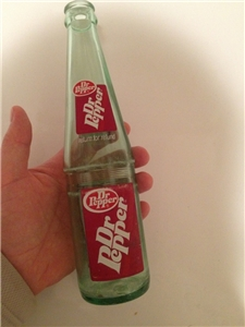 Vintage Glass Return For Refund Dr Pepper Bottle 10 Oz ACL
