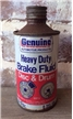 Old Vintage Genuine Brake Fluid Disc Drum Metal Oil Can Cone Top San Antonio TX