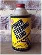 Old Vintage Solder Seal Power Steering Fluid Metal Oil Can Cone Top