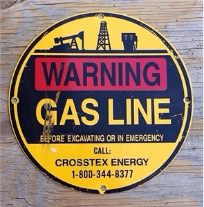 Vintage Crosstex Oil Gas Warning Metal Collectible Advertising Texas Sign Decor