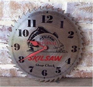 Original Skilsaw Shop Clock - Advertising Hardware Metal Tool Sign - Works