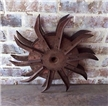 Old Antique Metal Cast Iron Double Tiller Plow Spike Wheel Steampunk Industrial