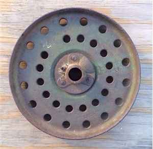 Old Vintage Heavy Cast Iron Metal Plow Wheel Industrial Steampunk Decor