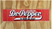 Original Dublin Dr Pepper Large Sticker Collectible Advertising Sign Brick Logo