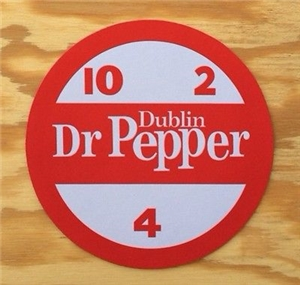 Original Dublin Dr Pepper Mouse Pad Collectible Advertising