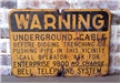 Old Original Vintage Bell Telephone System Warning Metal Sign 20""