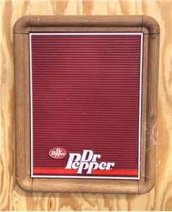 Vintage Original Dr Pepper Soda Menu Board Sign - 1987 Howard Collection