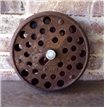 Old 1914 Cast Iron Metal Plow Wheel - Antique Industrial Steampunk Decor