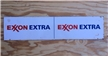 "Original Metal Exxon Extra Oil / Gas Station Sign 25"" Pump Plate"