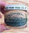 Vintage Pedigos Pork Rind Fishing Lure Collectible Glass Jar Unopened