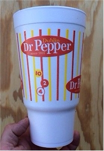 Original Dublin Dr Pepper Large Styrofoam Cup