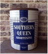 Large Vintage Southern Queen Shortening Oil Metal Tin Can Bucket Dallas Texas TX