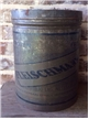 Vintage Lomax Process Fleischmanns Standard Brands Tin Metal Oil Can Bucket