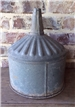 Large Vintage Metal Tin Oil / Gas Funnel - Industrial Farm Lamp Shade Art Deco