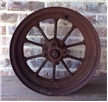 Large Antique JD John Deere Tractor Front Spoke Wheel - Cast Iron Metal