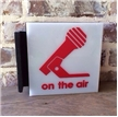 Vintage On The Air Light Up Sign - Radio Collectible - Double Sided