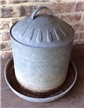 Old Vintage Galvanized Chicken Water Feeder - Ag Farm Decor