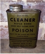Vintage US Army Rifle Gun Bore Cleaner Poison Oil Metal Can WW2 Curran Corp